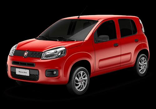 Novo Fiat Uno vermelho