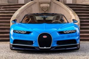 Bugatti Chiron azul