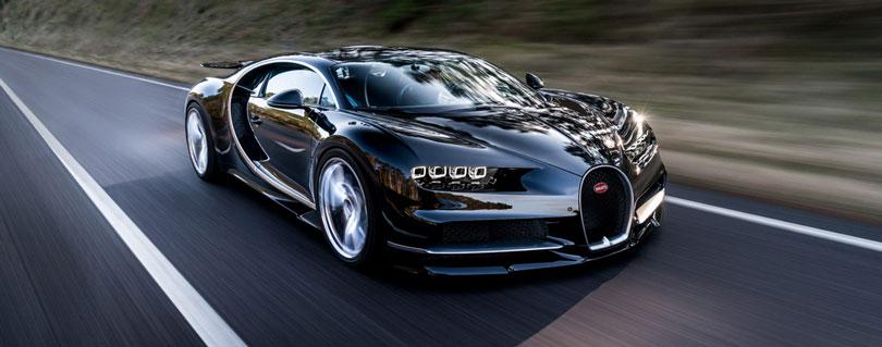 Bugatti Chiron preto