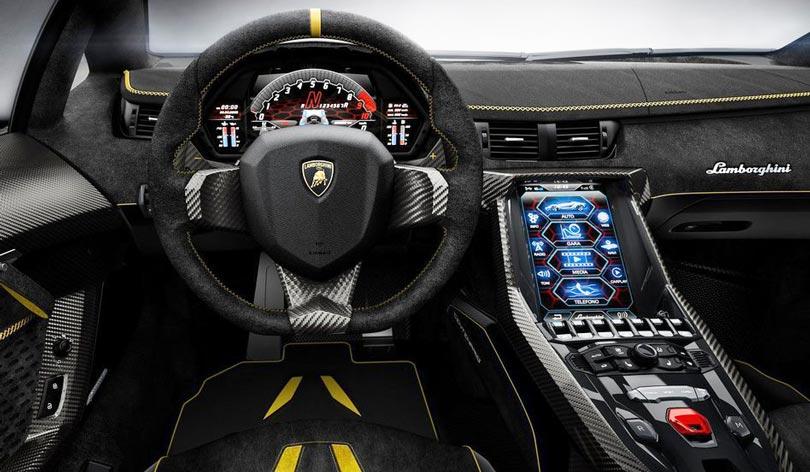 Lamborghini Centenario interior