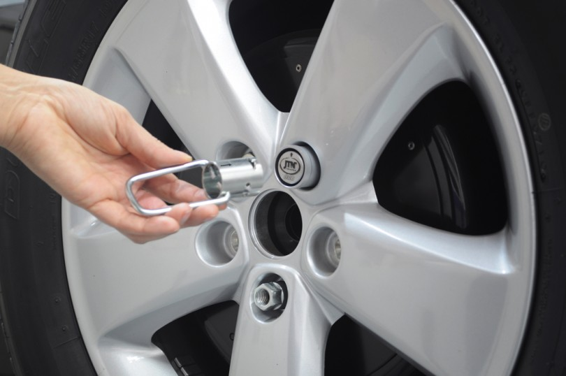 Parafuso antifurto para rodas de carros