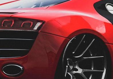 Roda esportiva carro vermelho