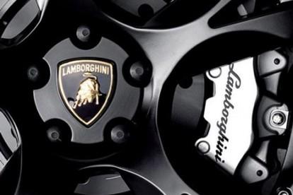 Roda esportiva Lamborghini preta