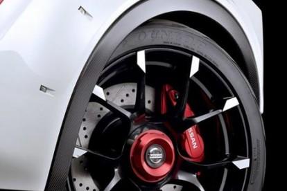 Roda esportiva Nissan branco