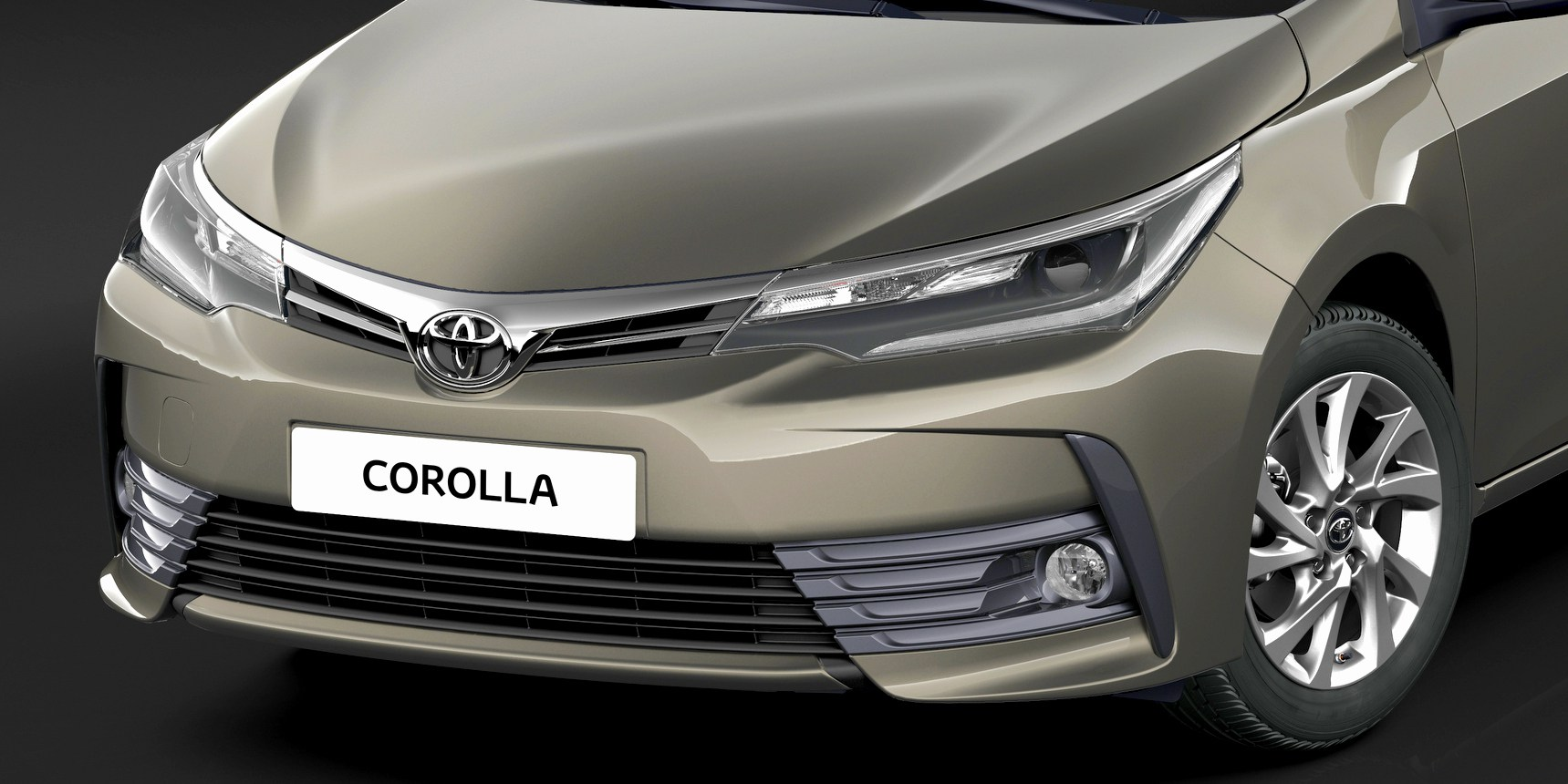 Toyota Corola 2017 frente e faróis