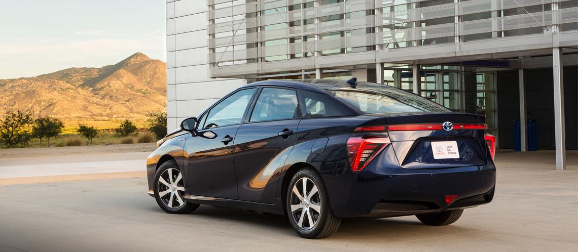 Toyota Mirai: Traseira do carro