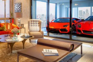 Garagem integrada de luxo