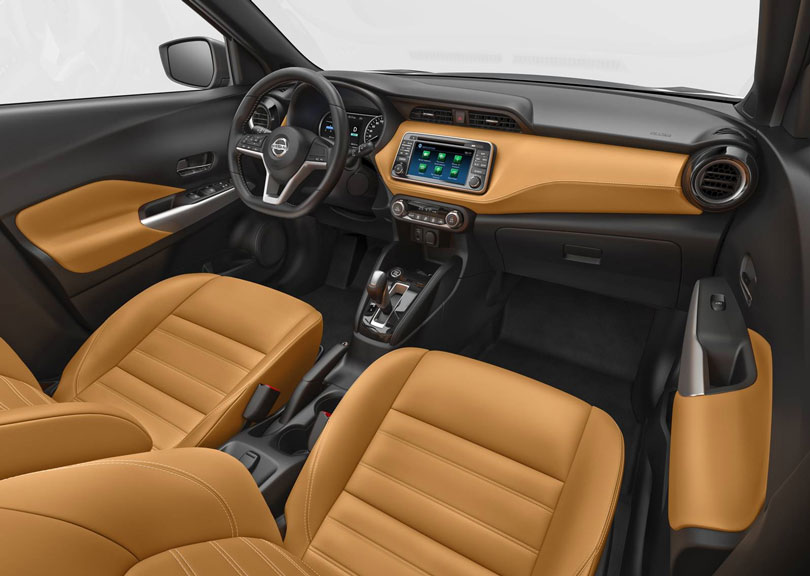 Interior Nissan Kicks 2017