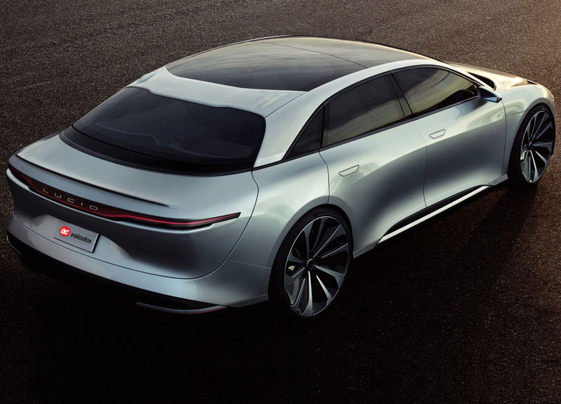 Lucid Air 2018 traseira