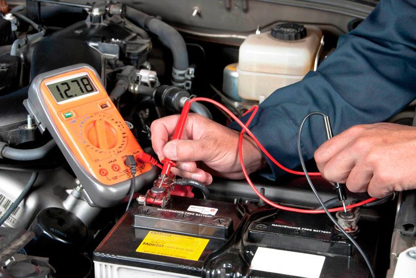Revisão da bateria do carro