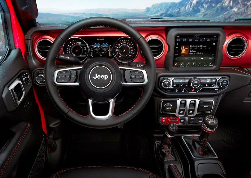 Jeep Wrangler 2018 interior
