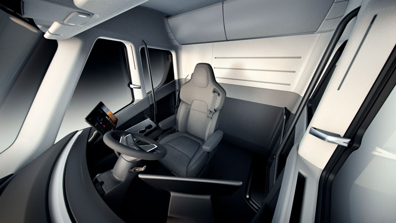 Tesla Semi 2019 interior
