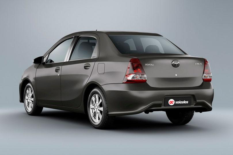 Toyota Etios Sedã 2019 traseira